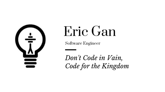 Don't Code in Vain, Code for the Kingdom